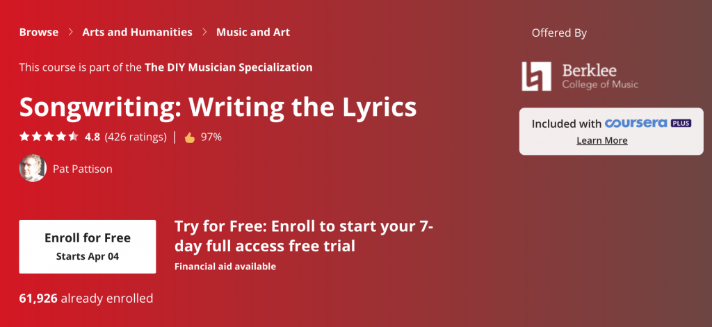 free songwriting course